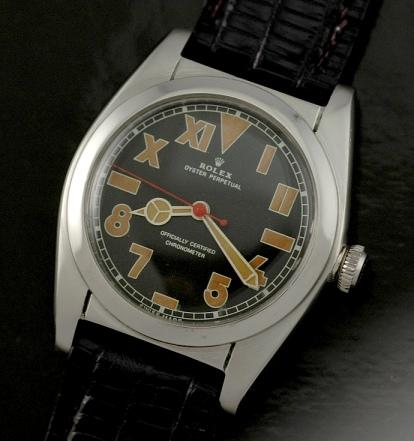 Used Breitling Watches >> Rolex Bubbleback Roman (California) dial - WatchesToBuy.com