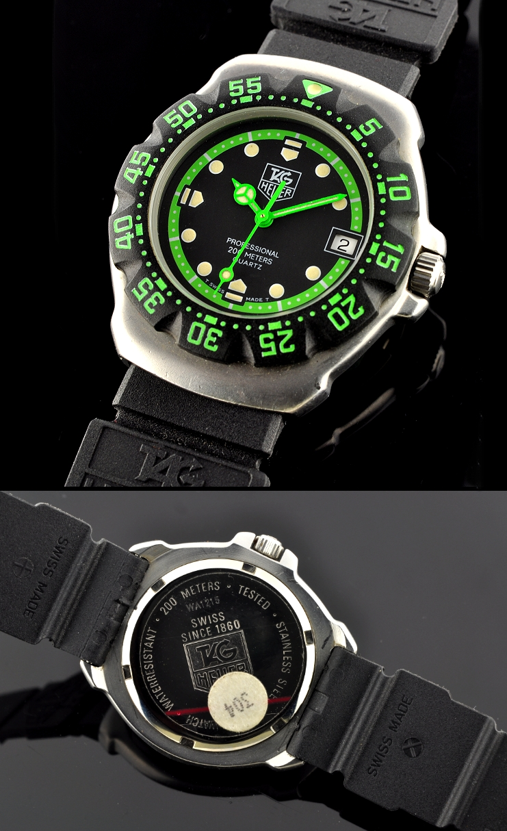 Tag heuer f1 200m dive watch for Tag heuer divers watch