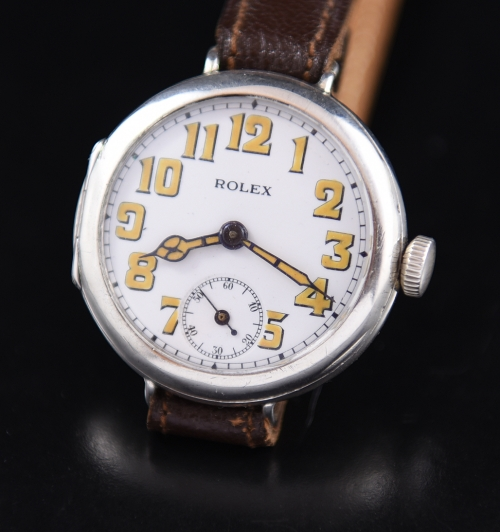 Used Breitling Watches >> Rolex WW1 Trench watch Sterling Silver - WatchesToBuy.com