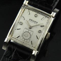 Gruen Curvex 14k. White Gold 1950's
