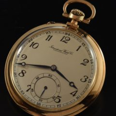IWC Pocket Watch 14k. Solid Gold