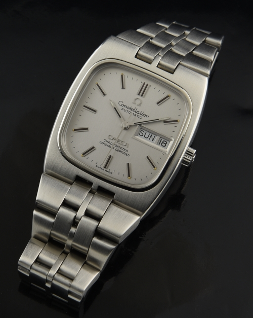 Omega Constellation t.v. shaped silver dial circa 1974