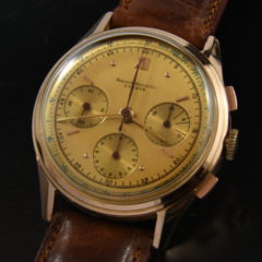 Record 18k. Rose Gold 1950's Chronograph