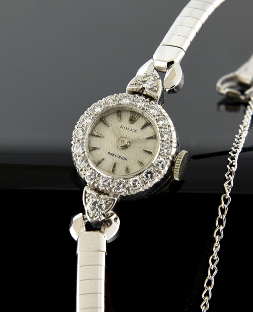 Rolex Ladies Platinum and diamond watch 1950's