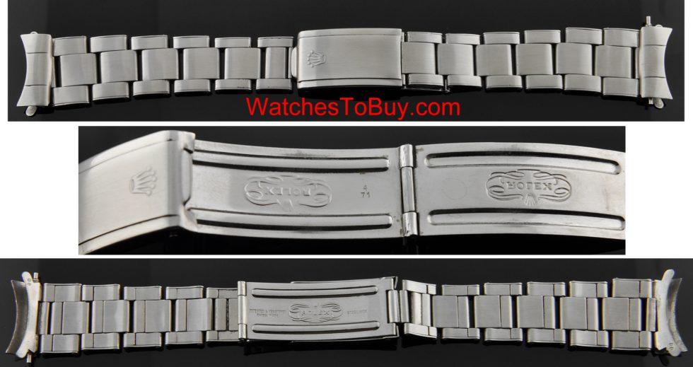 Rolex Submariner 20mm. vintage riveted bracelet